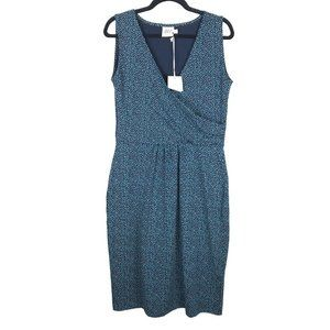 Mata Traders Blue Polka Dot Sleeveless V-Neck Dres